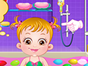 Baby Hazel had a wonderful shower time by playi...