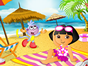 Play doras beach hangout game