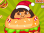 Help the Fat Dora eat her favorite foods, avoid...