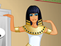 Welcome to our first Makeover Studio game! Makeover Studio takes historical or fantasy characters and turns them into modern girls. The first girl in line is the Egyptian queen Cleopatra! Start from an ancient dress and accessories, and take Cleopatra into the 21th century. First take Cleopatra through the Dressing Room Door where you as an outfit designer can choose new trendy clothes. You can adjust the colors and patterns like in a Fashion Studio game! Then its time to enter the Hairstyle Door to make Cleopatra the next hairstyle icon! Finally take the Makeup Door to give Cleo the best makeover in ages! Have fun!