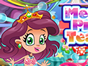 Little mermaid princess is throwing a tea party for the girls. But she has so many work to do and you could give her a hand. First, lets help her clean up the messy room. Then decorate the room and set the table. Last but not least, you should pass the memory game to win her party dress and accessories! This is a really challenging game. Play this Mermaid Princess Tea Party game and see if you could be a successful host!