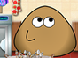 Pou is cleaning his house after hosting a big p...