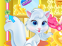 Meet Blanc, an adorable princess pet and spend a lovely time with her by playing this fun pet care game. Her fur needs a special care so do you want to learn how to do this? Follow the instructions in the game, wash and moisturize, cut and curl to make her look amazing. At the end, mix, match and use your imagination to pamper Blanc!