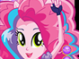 Pinkie Pie is getting ready to go on stage. She...