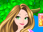 Rapunzel has spent a long day outside the tower with Flynn and shes exhausted and dirty! Give her a luxurious bath, wash her gorgeous long hair and dress her in beautiful princess gowns and accessories in this fun dress up and caring game from Sky Breeze.
