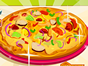 We love to eat pizza and we decided to make a new one called Ratatouille pizza. With all kinds of vegetables you will have to make a delicious pizza. Have fun.