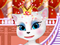 After Talking Tom became king, his wife Angela Talking, are to be crowned as queen of all cats in the world.Queen Angela must