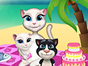 Talking Angela and her family will go to the beach today, because she promised to her kids that this will be a picnic day. Its a sunny day and Angela is asking you to join the fun. Play this game and help Angela to set the blanket on the sand and to take out of the chart the favorite food of the kids. With a little help from you, Im pretty sure that everybody will have a great time. Enjoy!