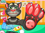 Talking Tom injured his foot in the forest. He came to your clinic and asked for medical treatment. Follow the instructions step by step and cure his foot. Have fun!