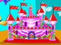 In this game you can decorate the most beautiful cake! It's a castle cake with a princess! You can choose the collors and accessoires of this delicious cake! Have fun decorating!