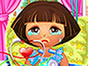 Dora fall asleep when she is sanbathing and she got serious sunburn. As a doctor heal Doras sunburns. Than dress up dora with cool dresses and accessories. Have fun!