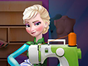 Use your imagination in this Elsa tailor game a...