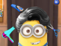 Open the doors in this minion hair salon game and start 