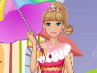 Barbie in rainy day