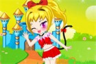 Look at the cute cat, she is a princess in cat castle. She is a naughty cat princess here, her father and sisters can't do anything with the cute cat princess. How cute she is!
