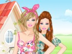 Floral Barbie Dress Up