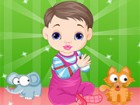 Play with the sweet little baby and dress her u...