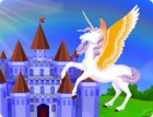 Decorate a castle in the middle of the unicorn ...